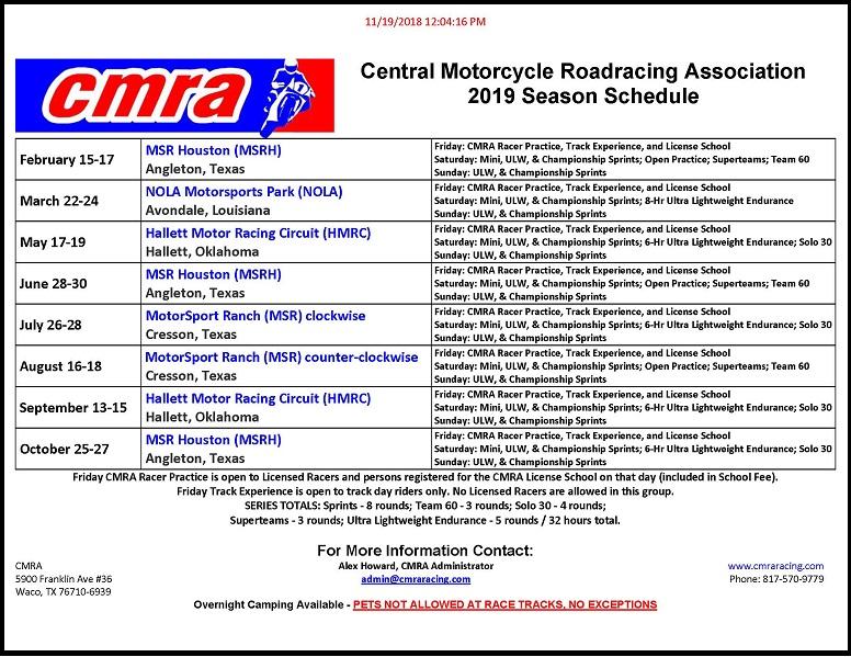 Name:  2019 CMRA Season Schedule 11-19-18.jpg Views: 1016 Size:  210.6 KB